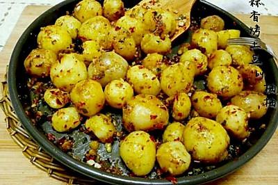 蒜香烤小土豆