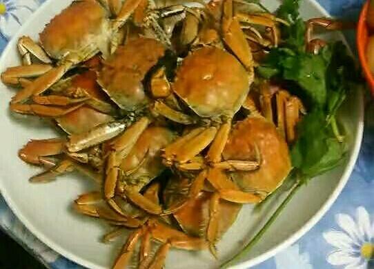 蒸河蟹的菜谱_年糕_豆果米面江美食做法的蒸法图片