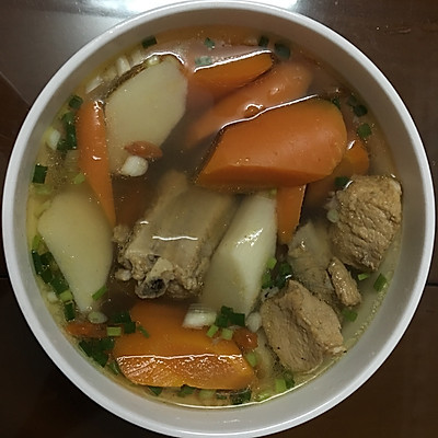 美食胡萝卜排骨汤的山药-菜谱-豆果墨鱼v美食版做法炒香干图片