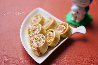 豆腐皮肉卷#方太一代蒸传#