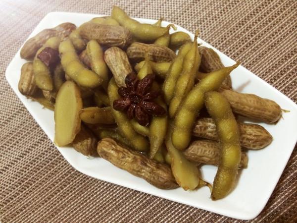 水煮羊肚做法的毛豆_花生_豆果菜谱美食炒什么菜图片