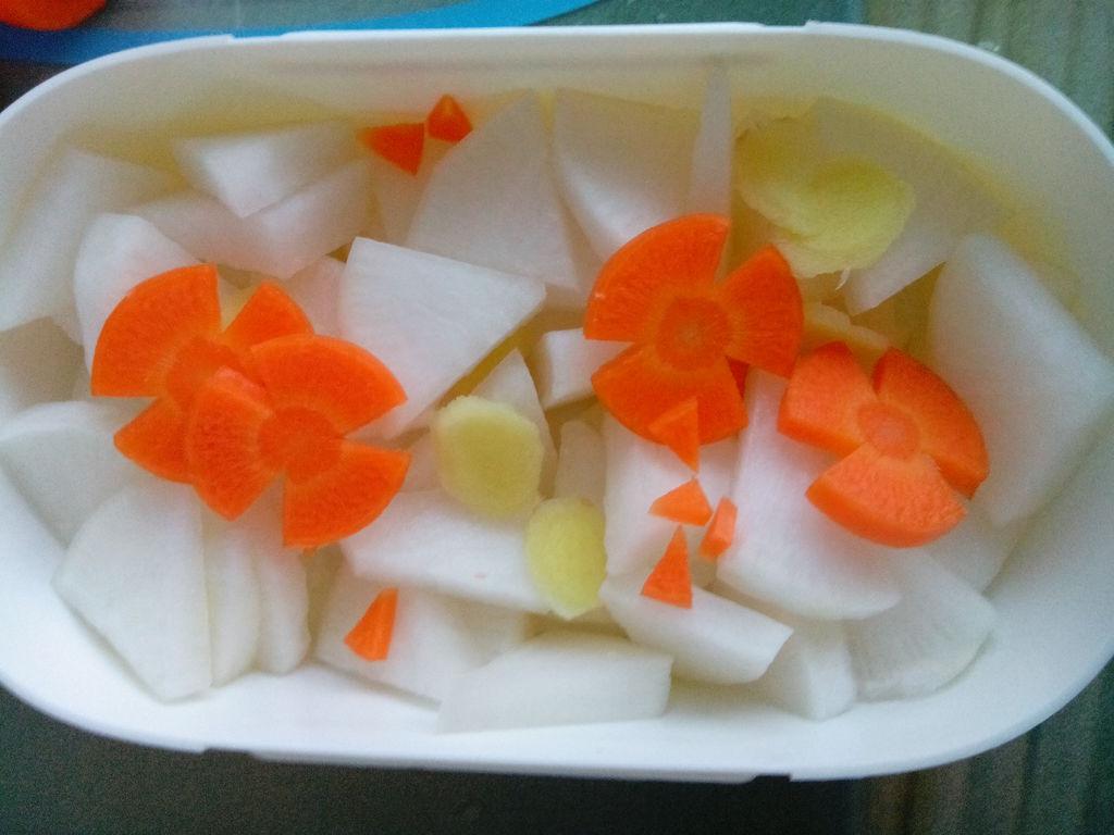腌萝卜的做法图解3