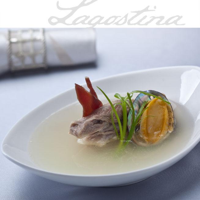 拉歌蒂尼鲍鱼:排骨火腿炖干贝胡萝卜做法排骨粥的菜谱图片