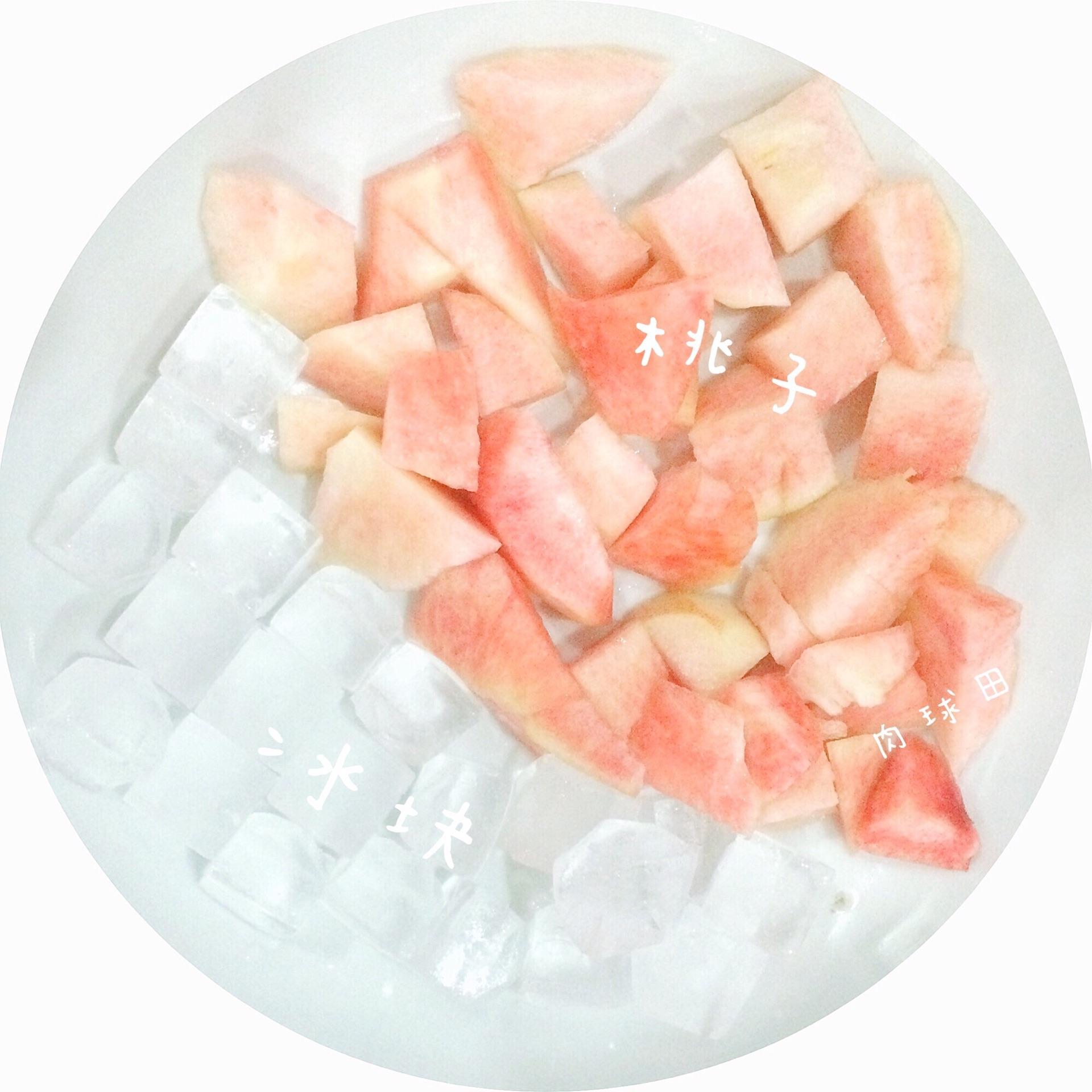 桃子冰沙的做法步骤