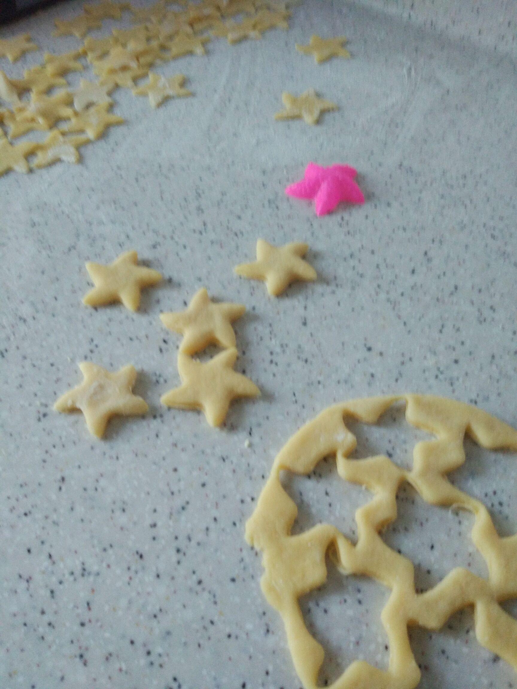 小海星鸡蛋饼干的做法图解1