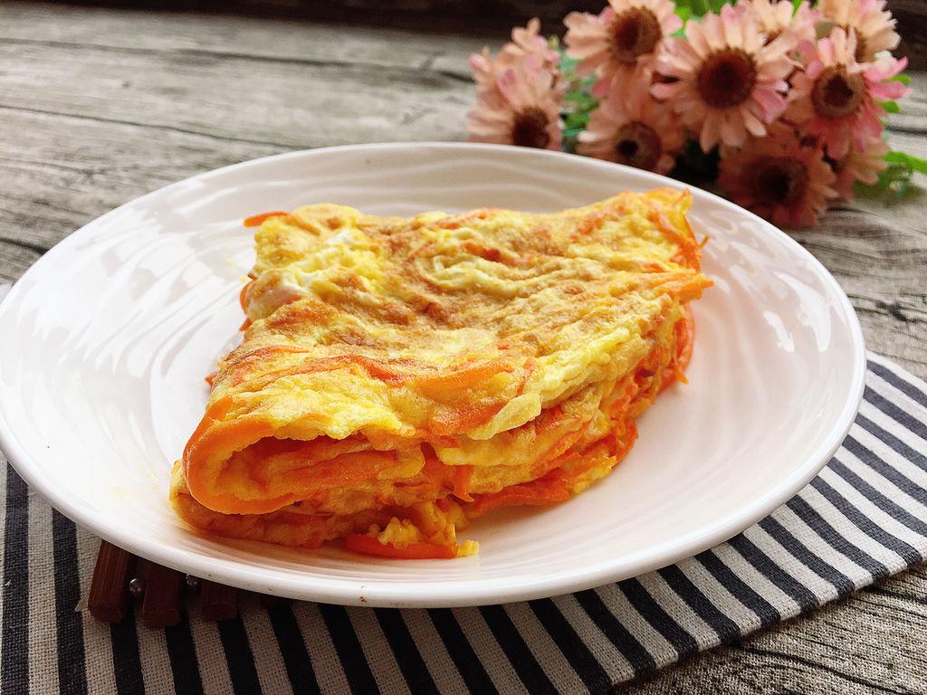 胡萝卜鸡蛋饼#美的早安豆浆