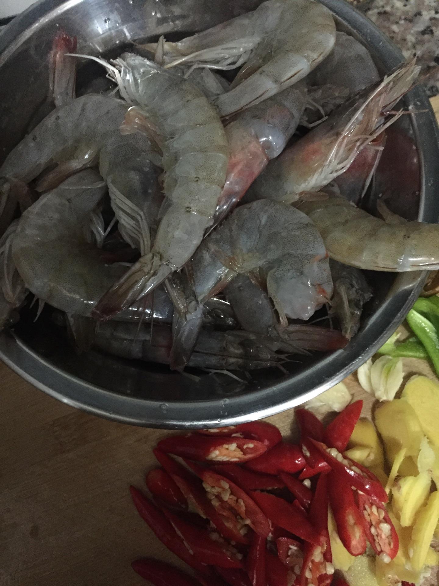 香辣大虾的做法图解3