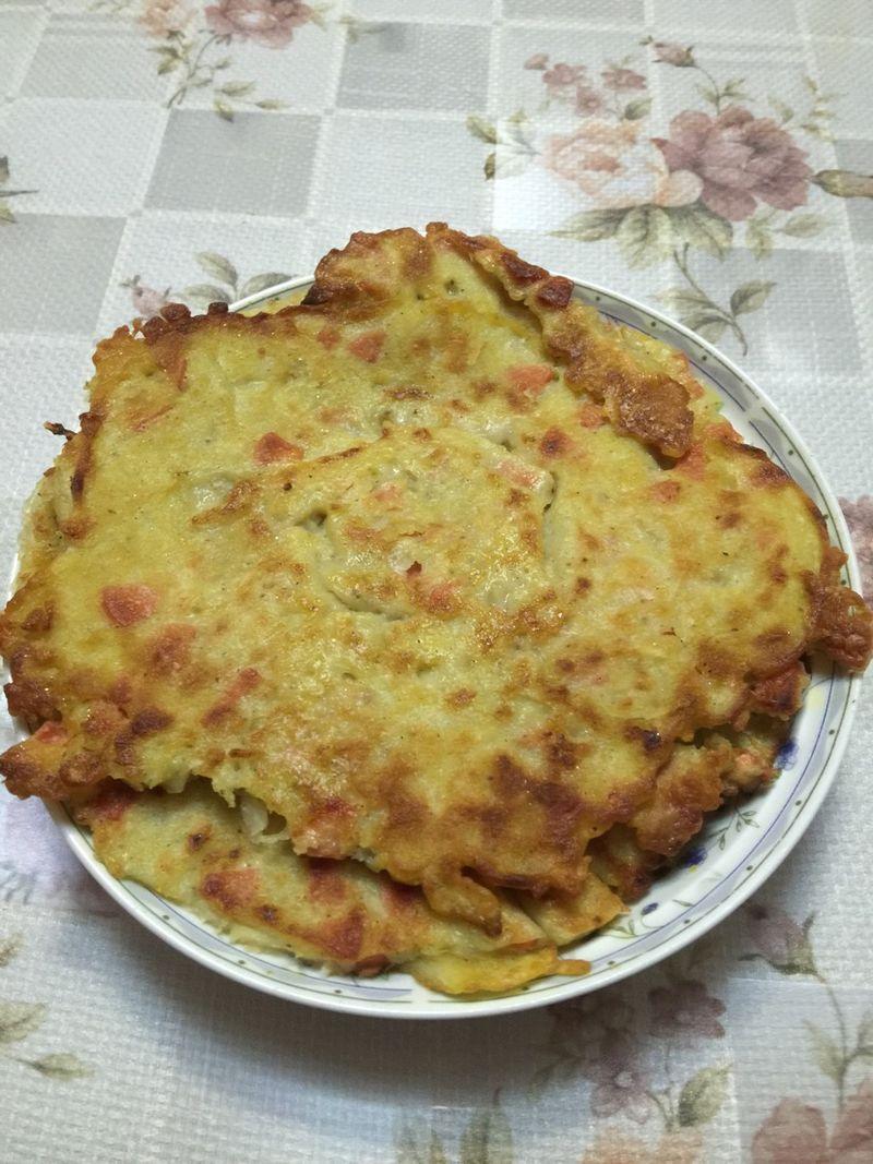 主料 土豆半个 火腿肠一根 鸡蛋一个 土豆饼的做法步骤