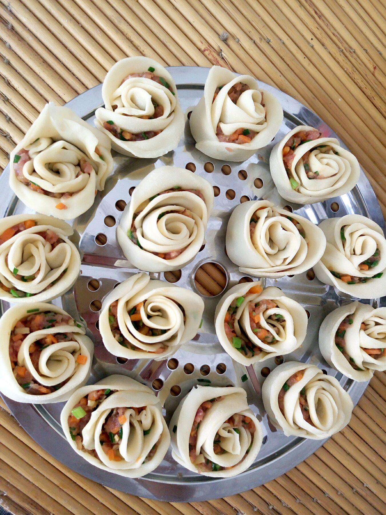 玫瑰花饺子的做法图解14