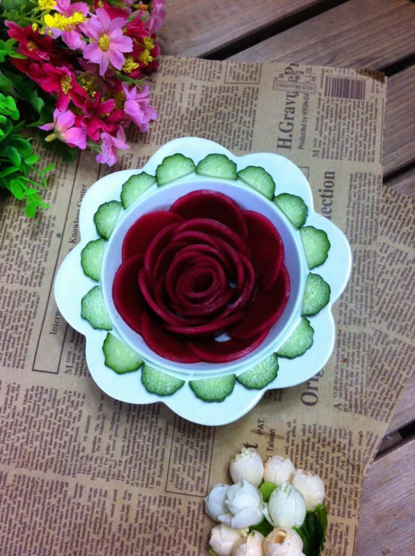 腌萝卜玫瑰花的做法图解12