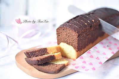 """可可香草磅蛋糕(""""肥蛋糕""""一条)"""