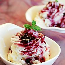 """【蓝莓山药泥】适合冬天享用的""""冰淇淋"""""""