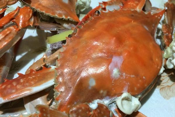 主料 螃蟹10个 葱4段 姜5片 辅料   盐少量 清蒸螃蟹的做法步骤 1.