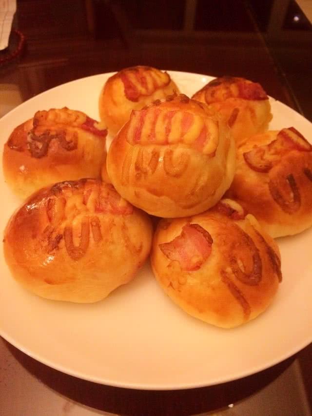 【小烤箱也有春天】培根小面包#九阳烘焙剧场