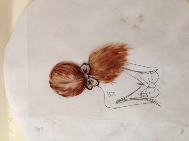 女孩背影巧克力转印的做法步骤