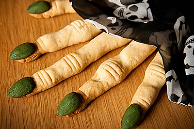 万圣节女巫手指饼-怪物手指