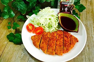 日式炸猪排#丘比沙拉汁#