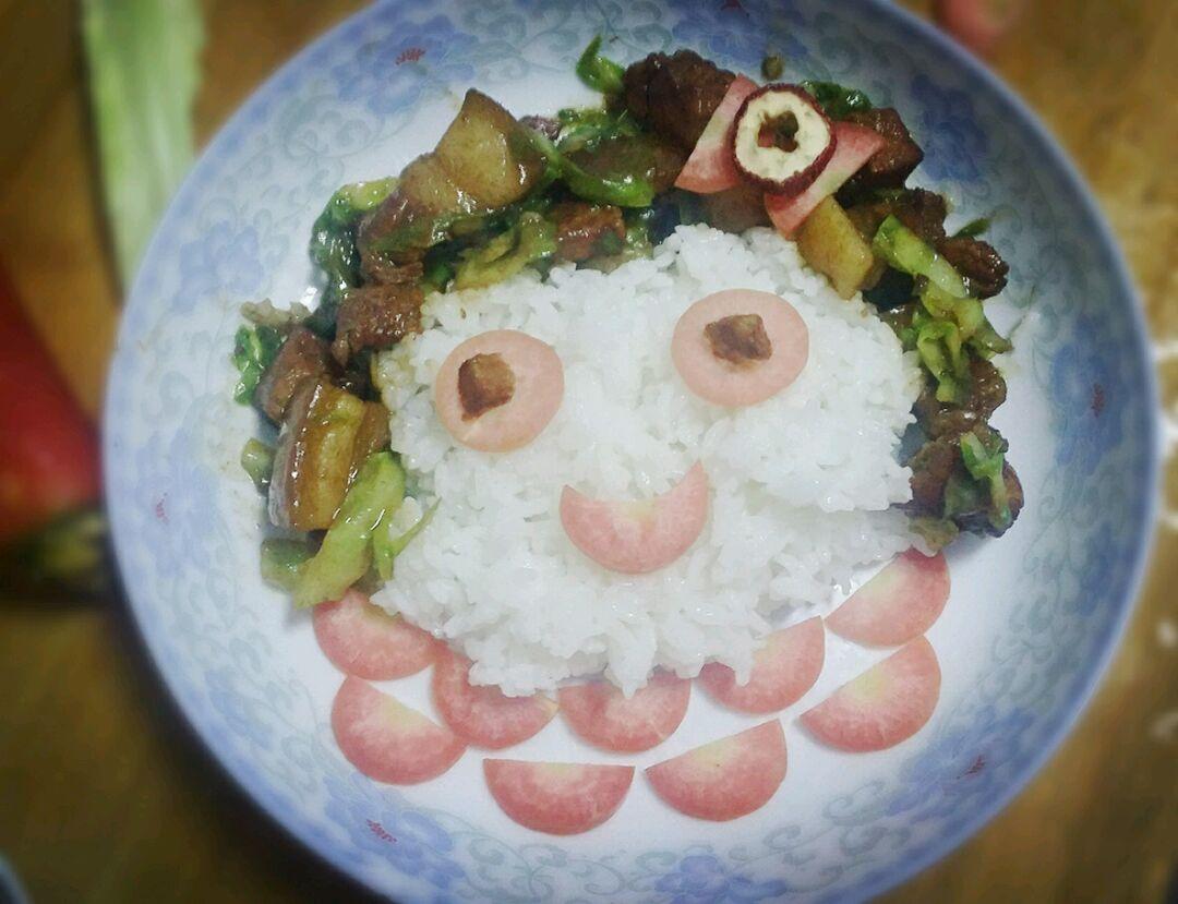 红烧肉续篇——超级宝宝饭的做法图解2