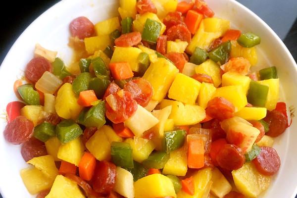 菠萝炒菜的做法_菜谱_豆果美食