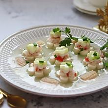 青虾仁食谱蒸白玉,年夜饭萝卜,清口解腻牛肚怎样能快速软图片