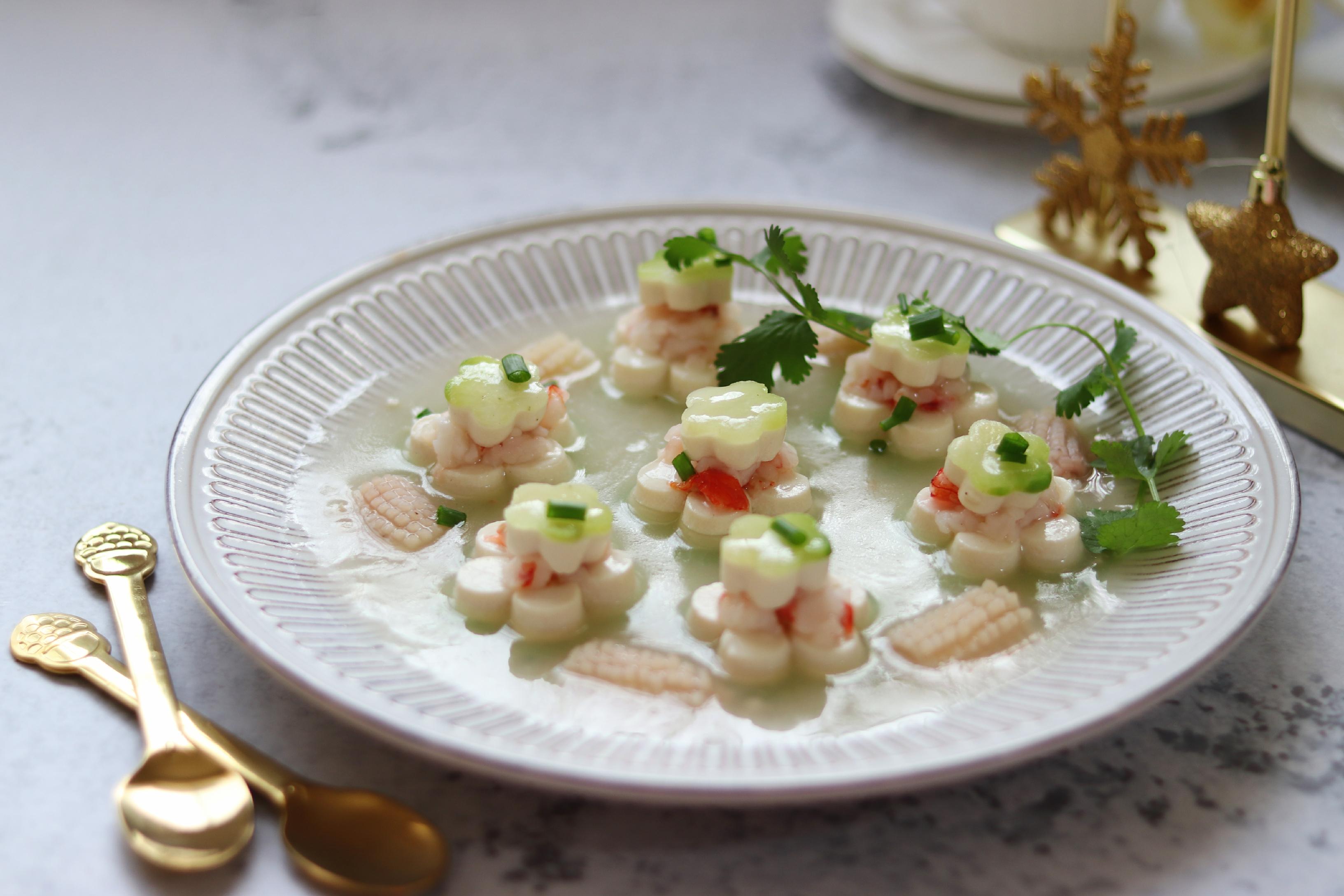 青萝卜食谱蒸白玉,年夜饭蛋黄,清口解腻宝宝肉虾仁鸡胸吃图片
