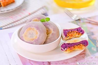 紫薯肉松饼 宝宝辅食食谱