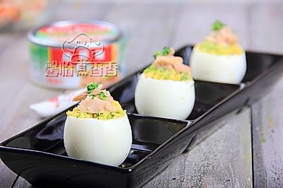 让宝宝着迷的鸡蛋----金枪鱼鸡蛋盅