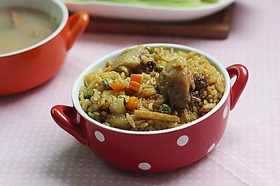 杂蔬菜咖喱鸡焖饭