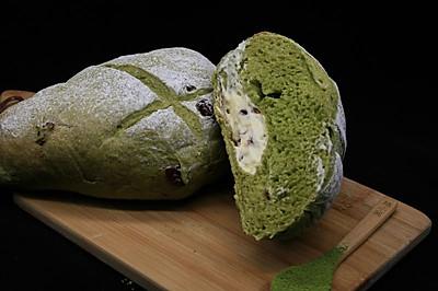 抹茶乳酪蔓越莓夹心手感面包