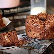 香醇巧克力花朵面包