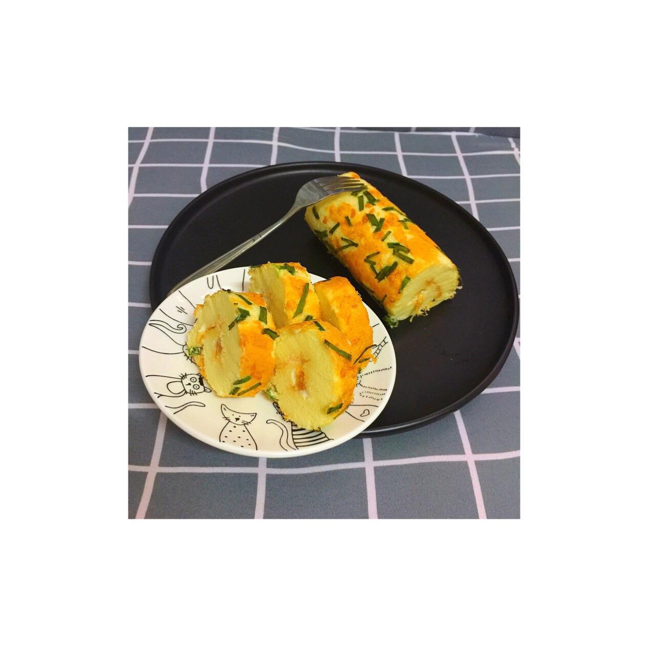 鸡蛋蛋糕三个卷(人们葱花厚卷)雨后春笋v鸡蛋肉松图片
