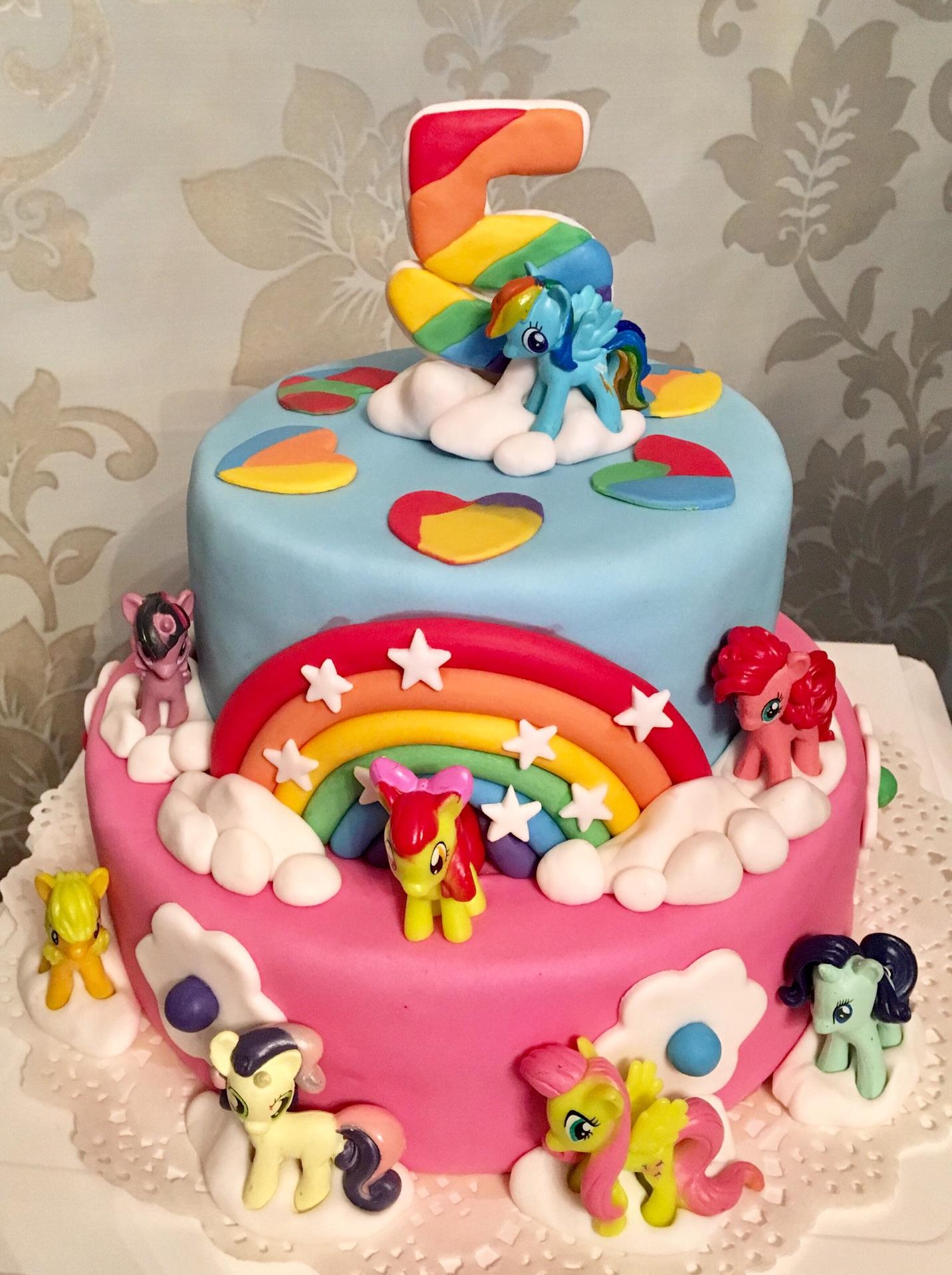 小马宝莉双层翻糖蛋糕(含内胚配方及包面技法)图片