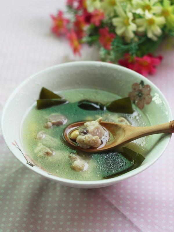 海带扇贝排骨汤--利仁电火锅试用黄豆(一)的做菜谱与河虾能同吃吗图片