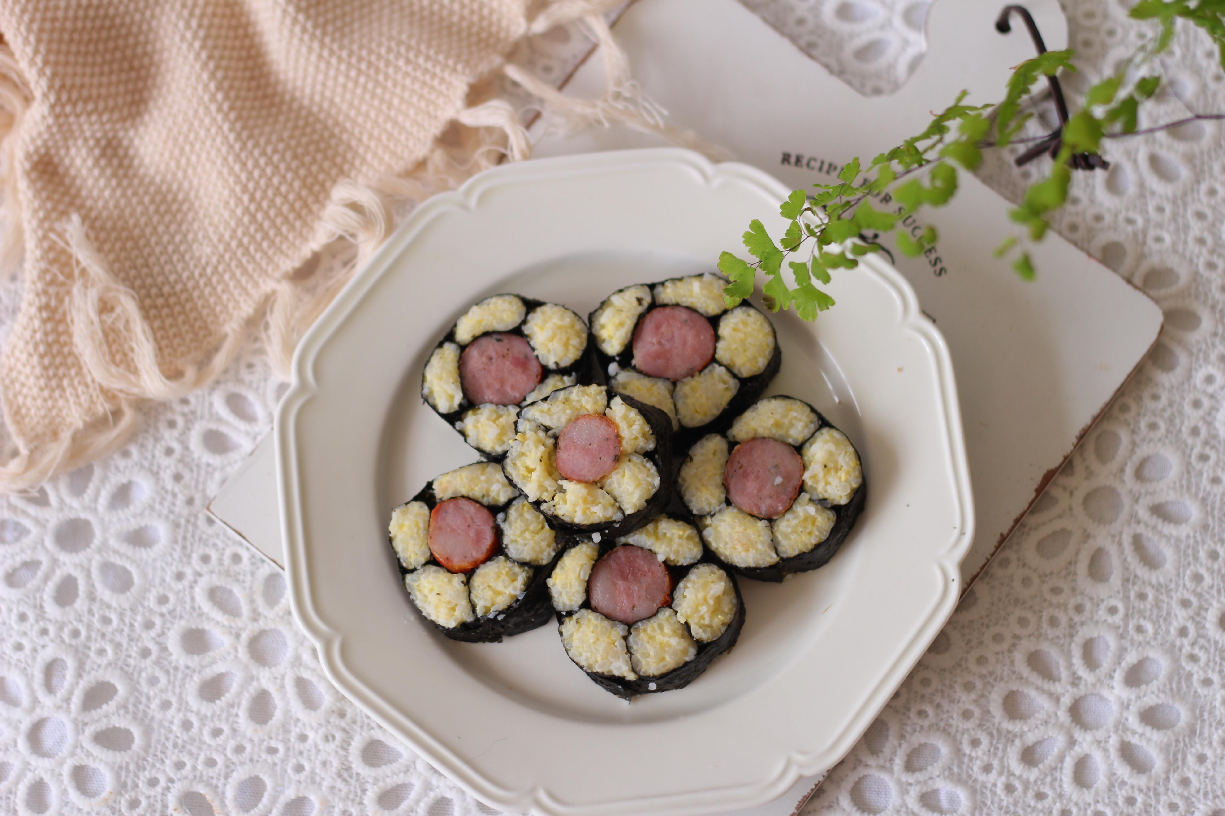 香肠花朵寿司的做法图解14