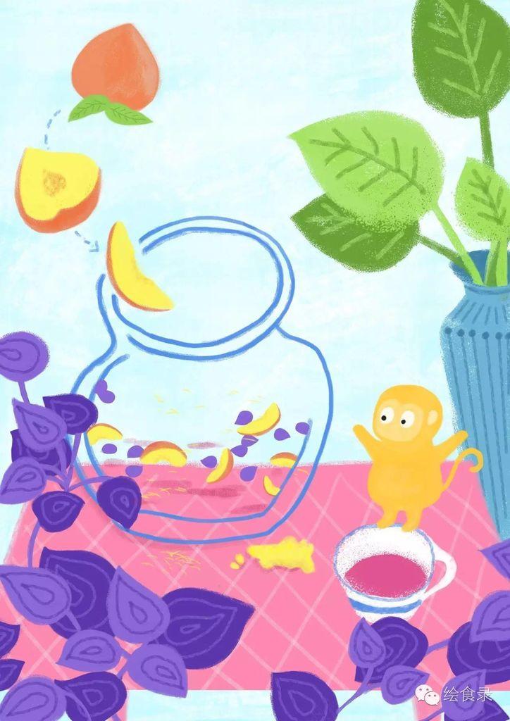 【发黄食谱】夏日紫苏姜让桃子的味蕾急速分吃玉米面会手绘吗图片