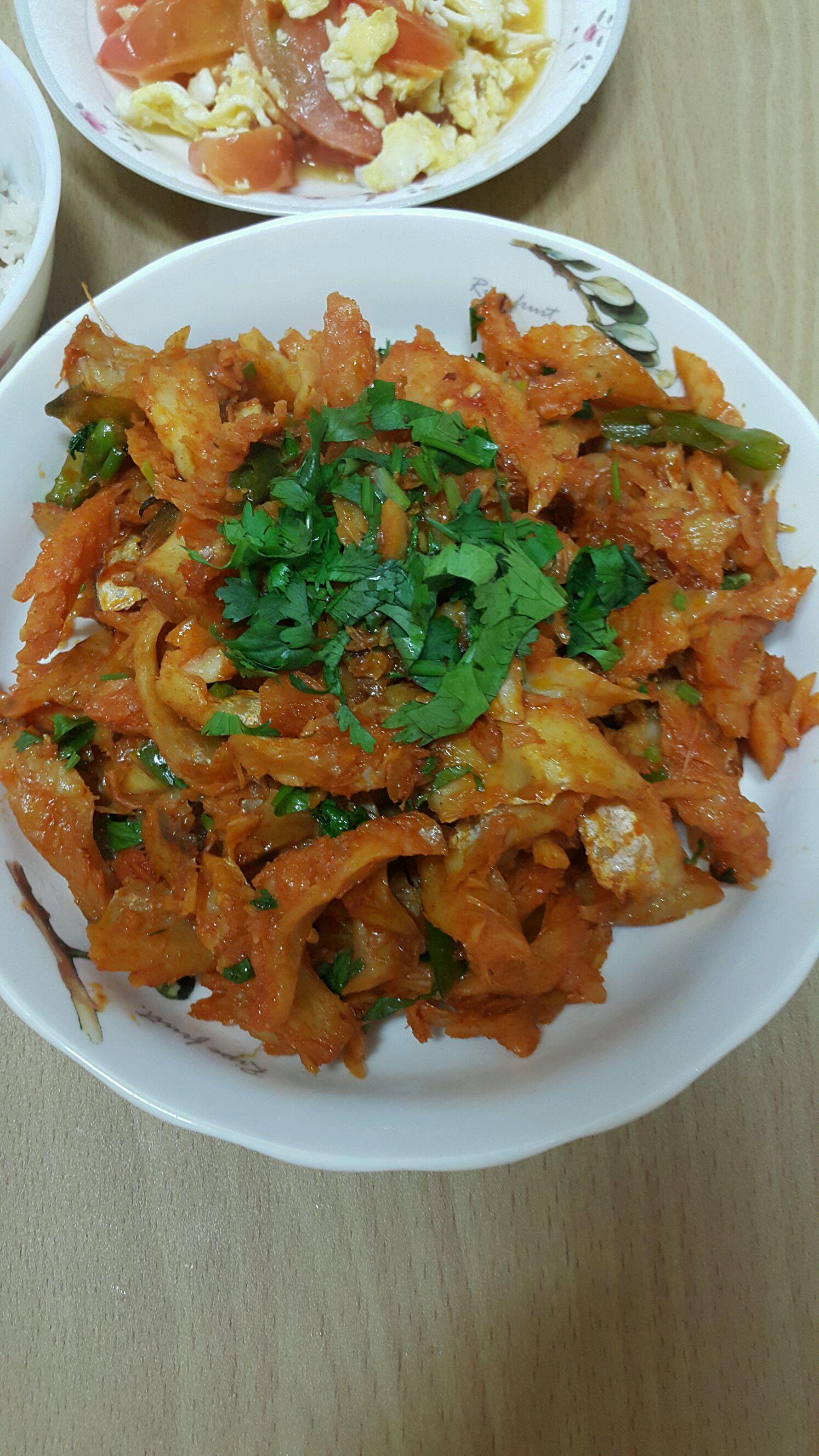 韩式辣炒明太鱼图片