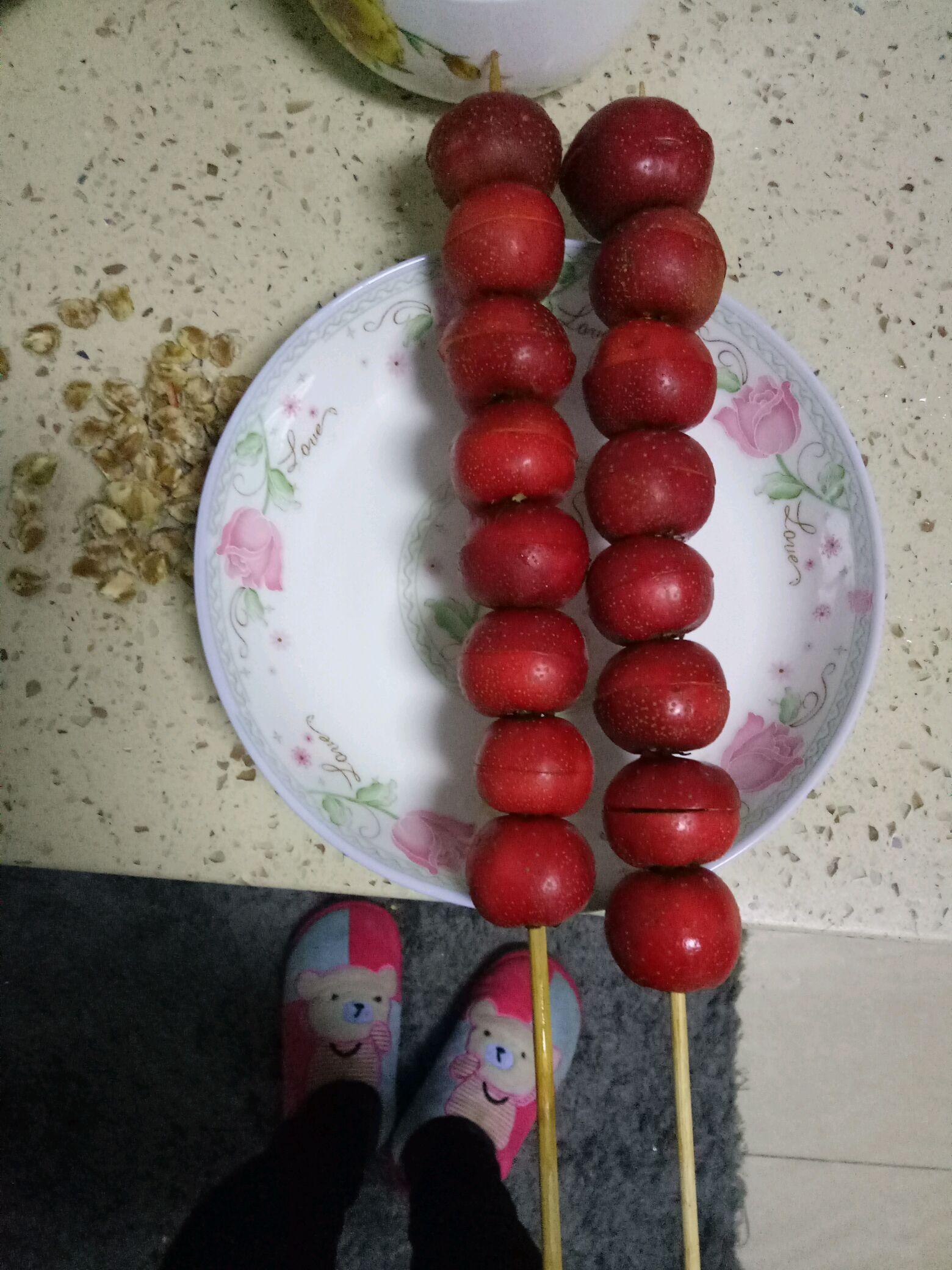 冰糖葫芦的制作