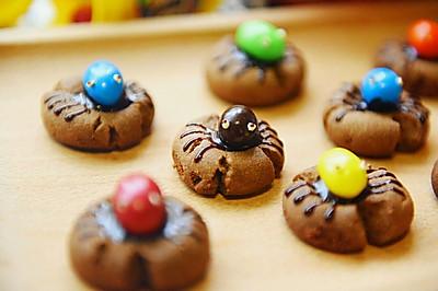 #东菱魔法云面包机#之万圣节蜘蛛饼干