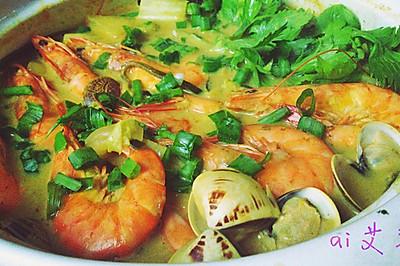 海鲜咖喱暖锅