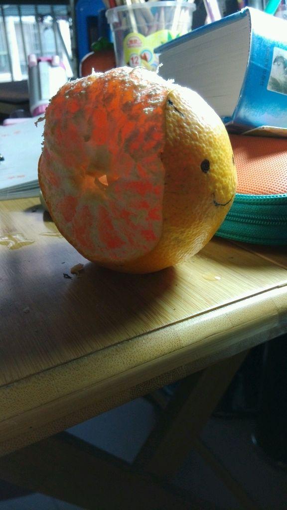 橘子做的动物造型