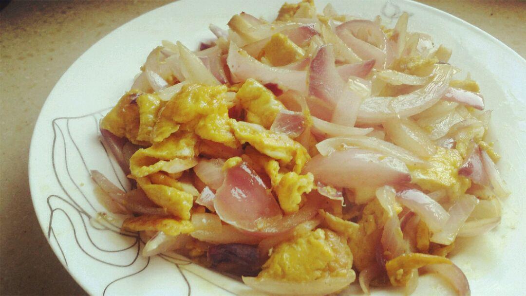 鸡蛋和洋葱炒匀,一丢丢盐调味怎样种植羊肚茵6图片