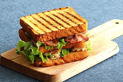 [汉堡实验室]鸡胸培根三明治