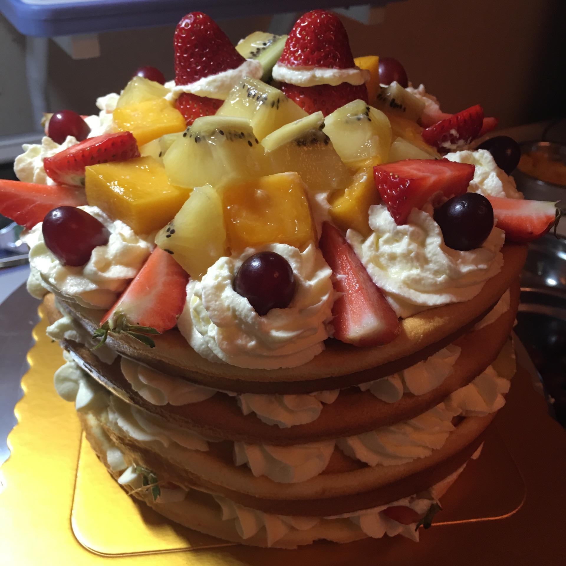 水果裸蛋糕的做法图解7