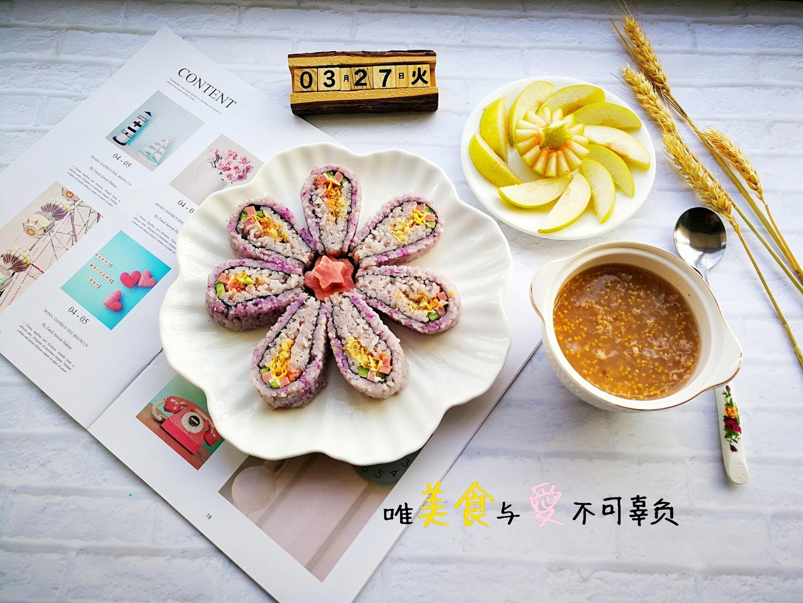 翻转花朵寿司的做法图解12