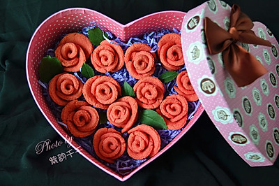 浪漫温馨的七夕情人节——玫瑰饼干