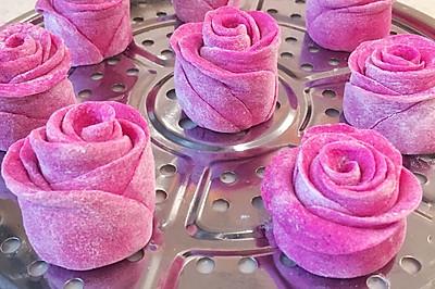 玫瑰花馒头 火龙果版本