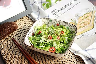 【凉拌老虎菜】#快手又营养,我家的冬日必备菜品#