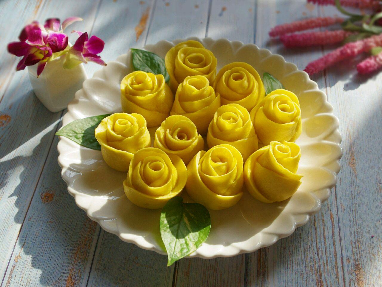 南瓜玫瑰花馒头的做法图解21