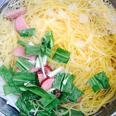 爽口又瘦身的面的面条:毛豆金针温粗粮蔬菜_菜不小心吃了做法图片