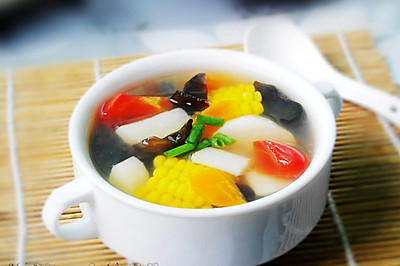 山药鲜蔬汤